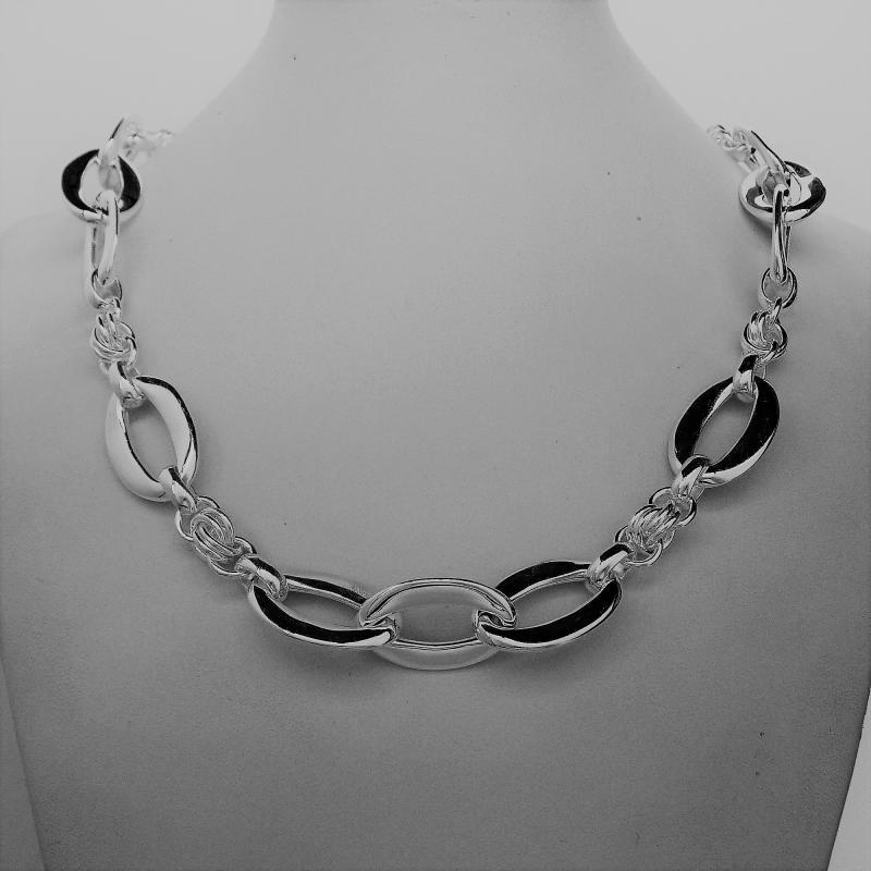 Italian silver handmade necklace