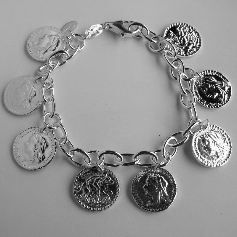 Extrêmement argento con monete - Gioielli argento monete ZE75