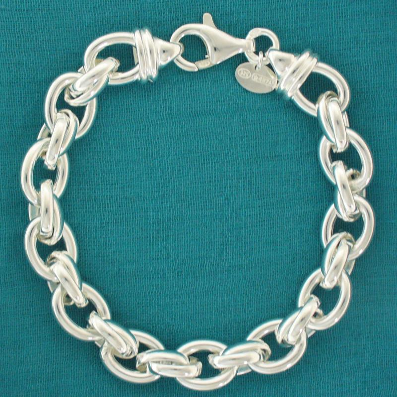 Sterling silver bracelet oval link for ladies 23cbdb2abd