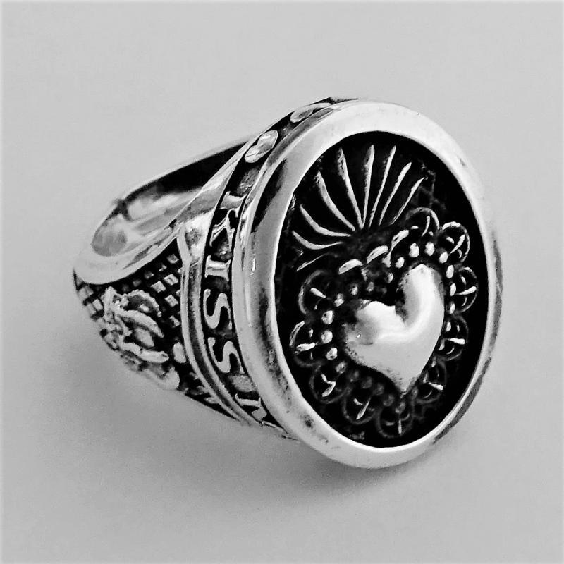 Anello donna cuore sacro argento 925
