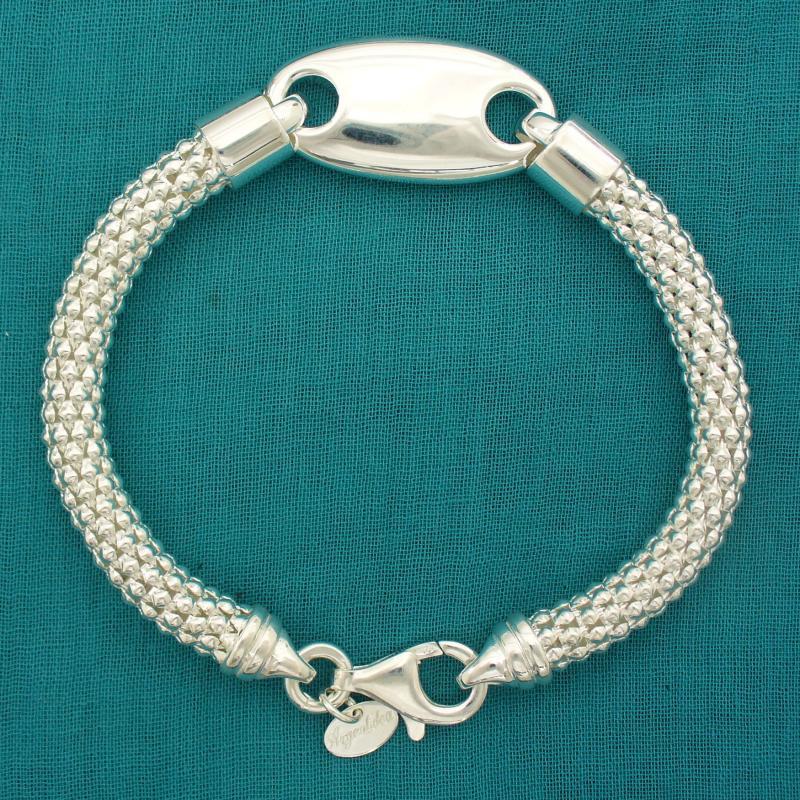 Pop corn bracelet in 925 silver