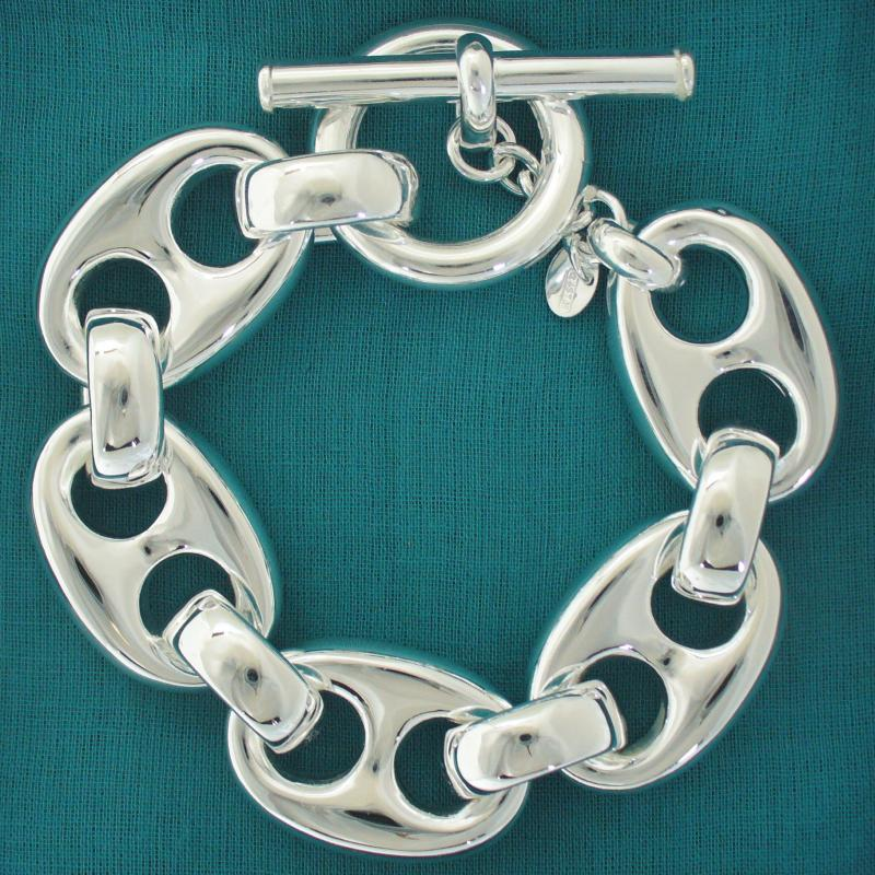 Sterling silver mariner bracelet made in Italy