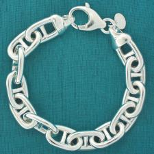 Anchor chain bracelet in 925 sterling silver