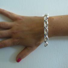 Gioielli argento bracciale rolo ovale 11,5 mm filo ovale - Catena in argento 925