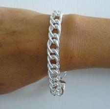 Curb bracelet in 925 sterling silver