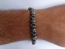 Oxidized 925 silver men's bracelet 8,5mm
