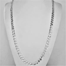 Collana uomo maglia traversino ''Flat Marina'' in argento massiccio. Larghezza 5,8mm. Lunghezza 6...