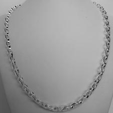 Collana uomo argento 925 catena maglia ovale.