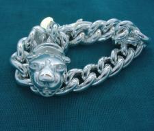 Sterling silver panther bracelet.