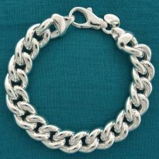 Bracciale argento grumetta 12 millimetri