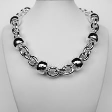 Sterling silver balls chain necklace