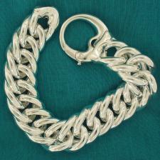 Double curb bracelet in 925 sterling silver