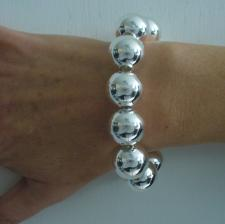 Sterling silver bead bracelet 16mm.