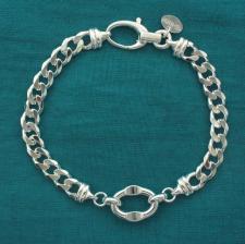 Bracciale catena unisex. Gioielli in argento.