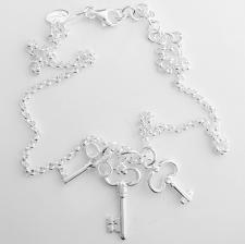 Collana chiavi in argento 925
