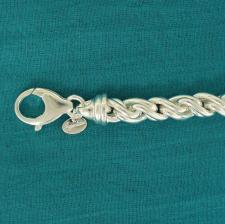 Bracciale argento 925 torchon.