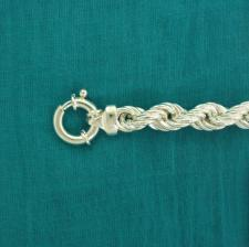 Bracciale argento - Maglia corda
