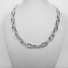 Sterling silver anchor chain necklace 10mm