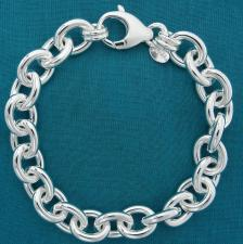 925 silver bracelet 12mm made in Italy