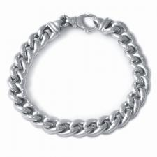 Sterling silver curb bracelet 10mm