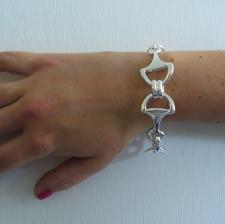 Sterling silver horsebit bracelet