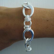 Sterling silver handcrafted bracelet made in Italy