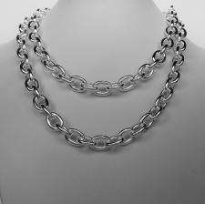 Collana uomo in argento massiccio maglie ovali