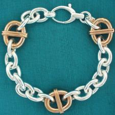Sterling silver bracelet with rose gold plating