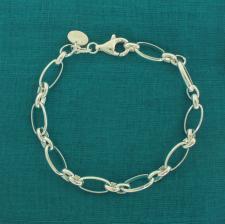 Bracciale rolo alternato - Gioielli argento