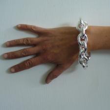 Enorme bracciale argento forzatina - Gioielli in argento