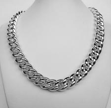 Silver curb necklace for womens