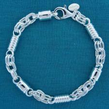 Sterling silver men's bracelet 7mm.