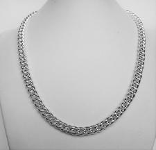 Women's sterling silver hollow curb necklace 7mm