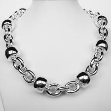 Sterling silver necklace. Women's ''Barilotto'' link chain 18mm. 113 grams.