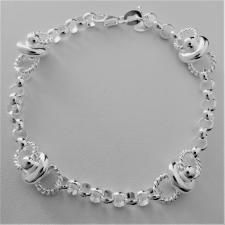 Bracciale in argento 925, rolo tondo e ''ufo''.