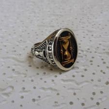 Anello donna argento con clessidra carpe diem