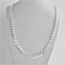 Sterling silver flat marina chain necklace 7mm. Length 60 cm. 45 GRAMS.