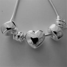Bracciale argento coda di topo snake e ciondoli