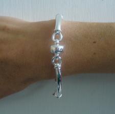 Silver bracelet factory arezzo