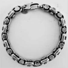 OXIDIZED handmade solid sterling silver bracelet 7,3mm.