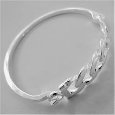 Sterling silver hinged bracelet 12mm.