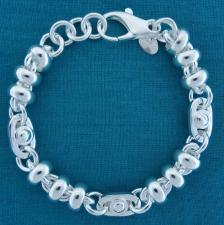 Vintage silver bracelet made in tuscany