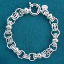 Bracciale torchon in argento 925
