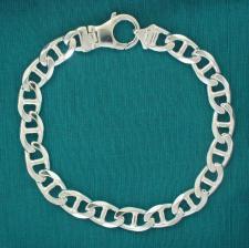 Sterling silver flat marina bracelet 9mm x 2,8mm.
