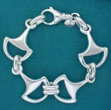 Sterling silver bracelet with horsebit.