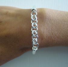 Cestina link bracelet in sterling silver