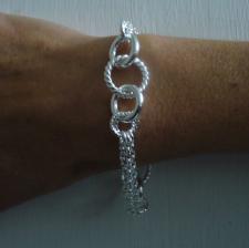 Bracciale texture argento