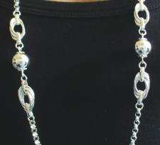 Collana argento lunghezza 1 metro.