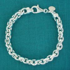 Oval belcher bracelet in sterling silver