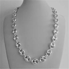 Sterling silver maglia marina necklace 12mm